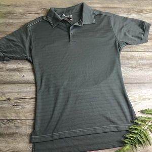 Adidas Climalite polo shirt gray grey sz medium